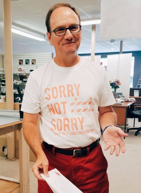 Sotry City 2017 Construction Sorry Not Sorry Shirt - City of Story City
