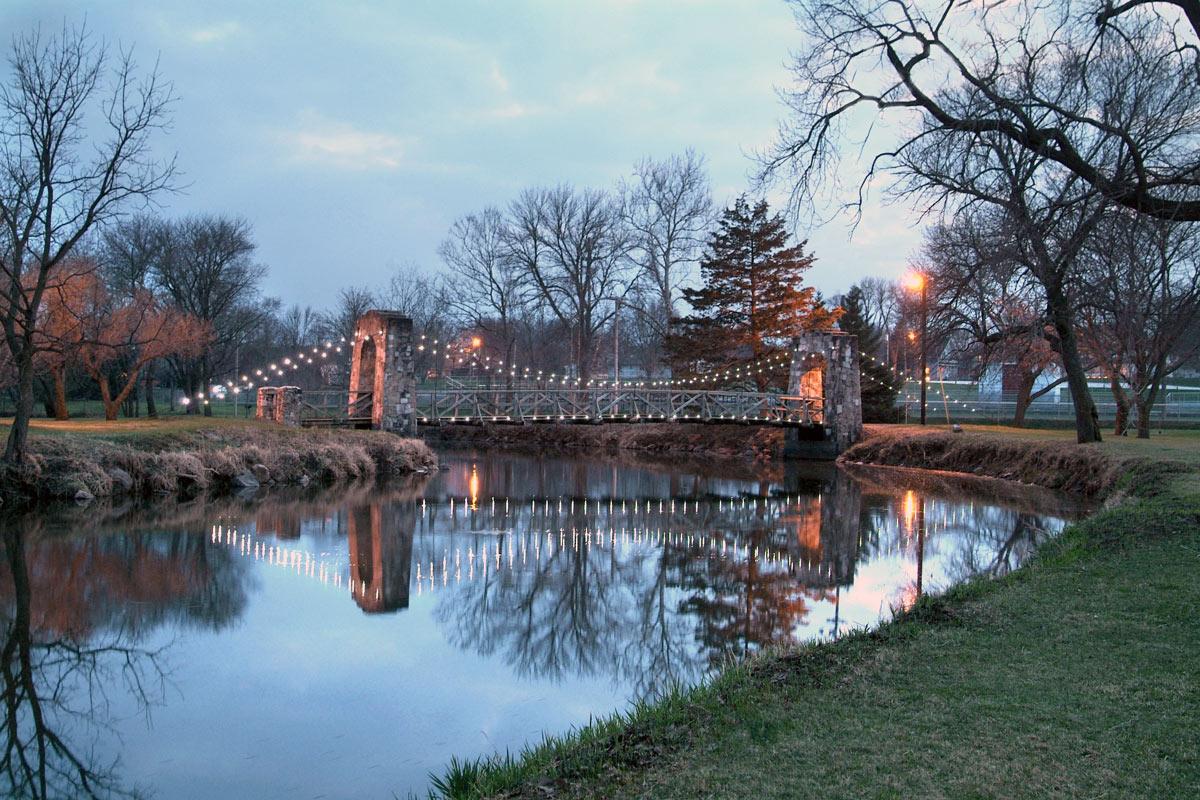 Story City Bridge with lights