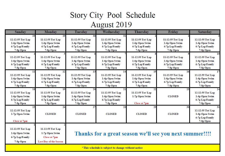 Story City Pool - Pool Hours, Swim Lessons, & Pool Fees